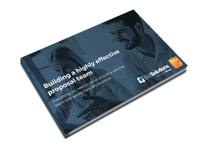 Building a highly effective proposal team ebook